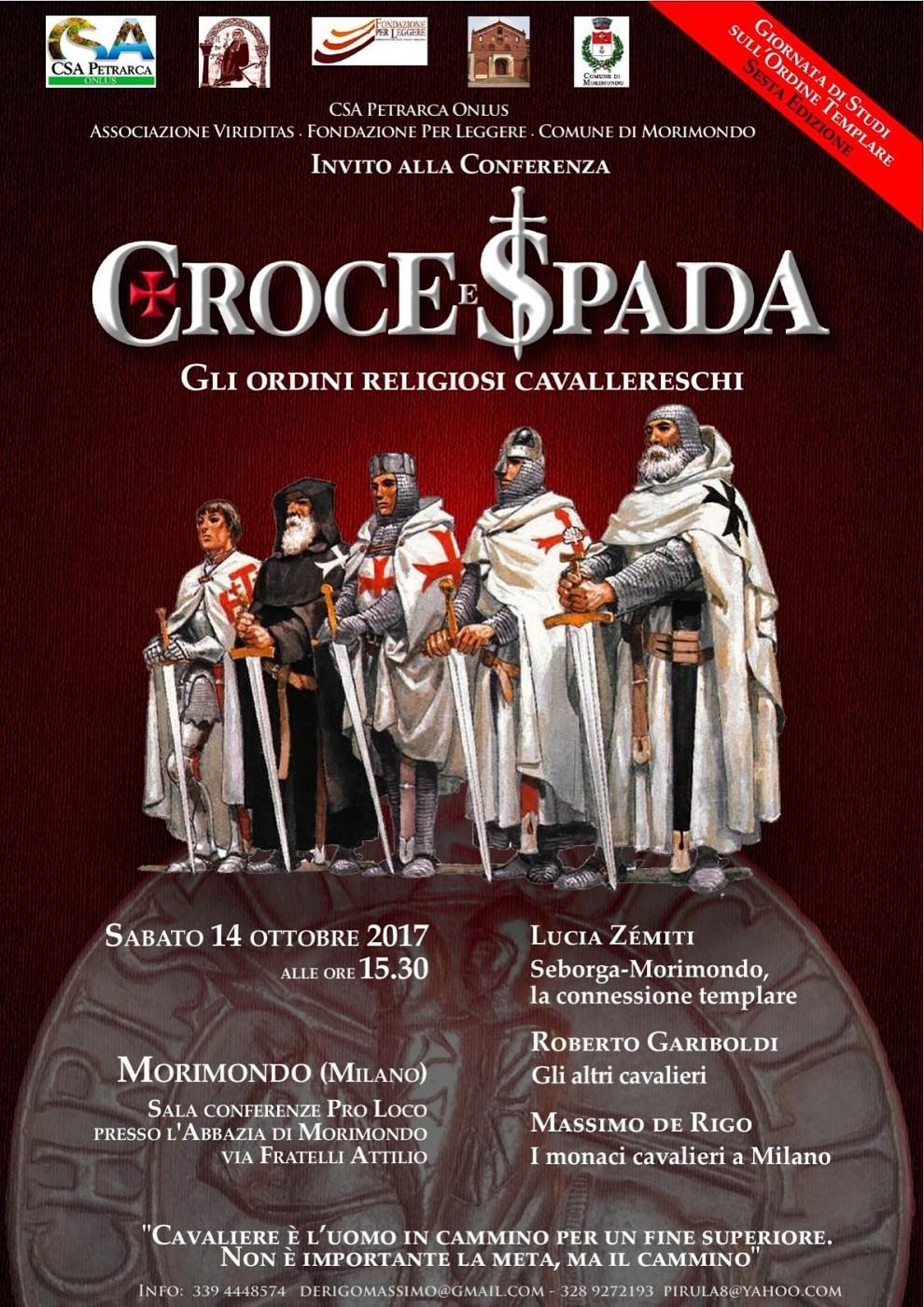 Poster Conferenza 'Croce e Spada' a Morimondo (2017)