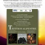 Poster Trittico Alpestre di Luigi Zanzi (2015)