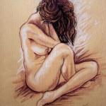 Studio figura nuda. Sanguigna su carta (2008)