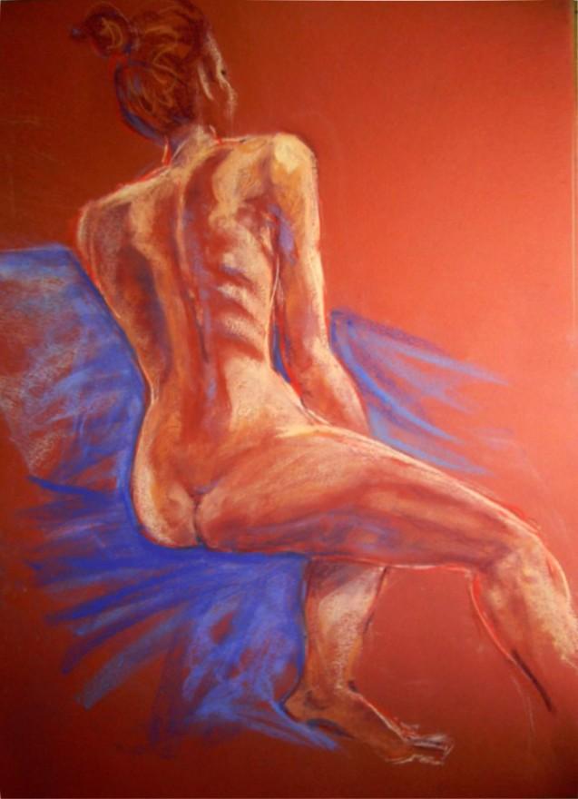 nudo scorciato. Pastello (2011)