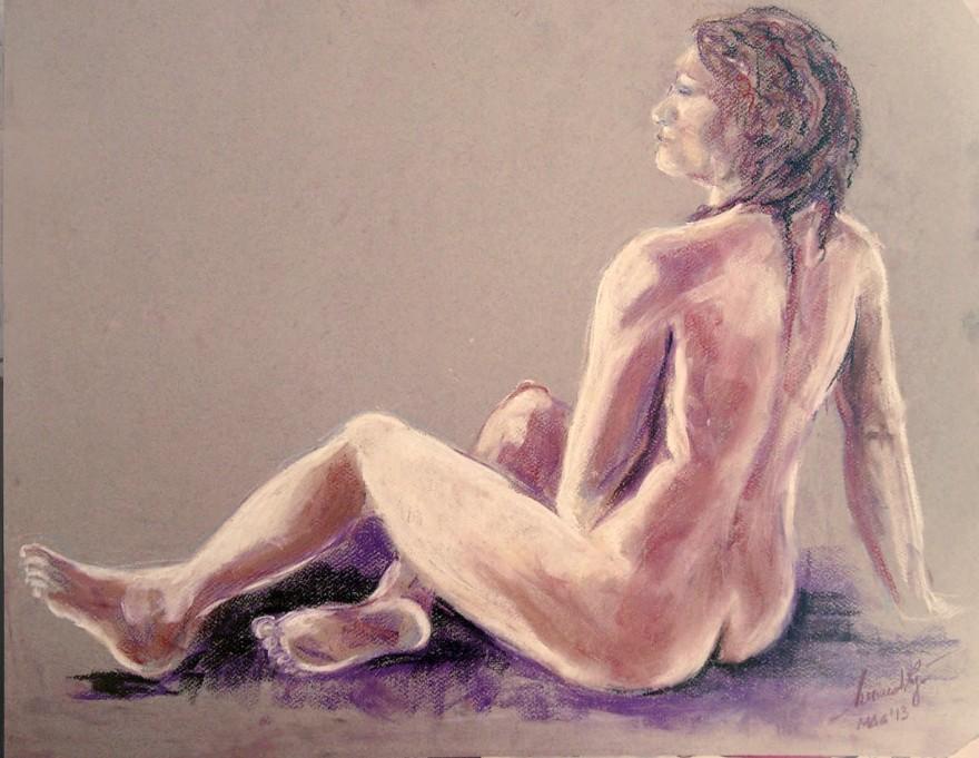 Studio di figura. Conté crayon su cartoncino (2013)