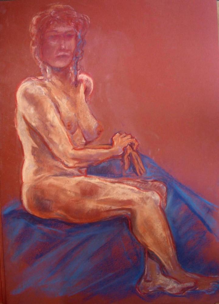 Nudo di scorcio. Pastello (2011)