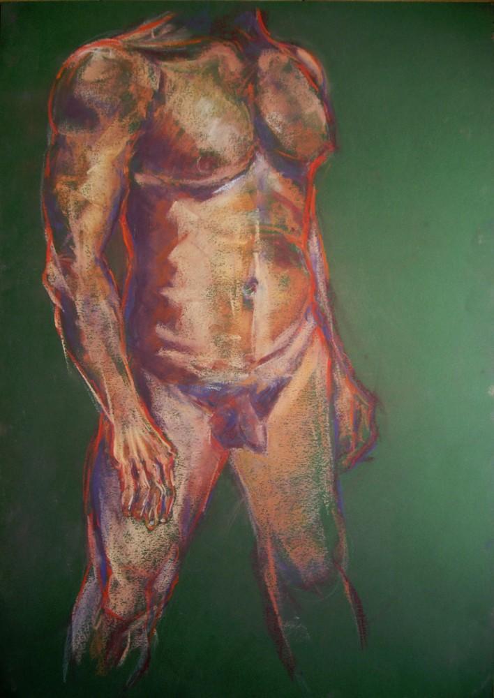 Studio sul contrapposto. Pastello su cartoncino (2011)
