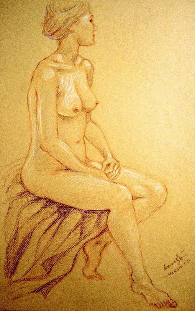 Studio posa classica. Pastelli su cartoncino (2010)