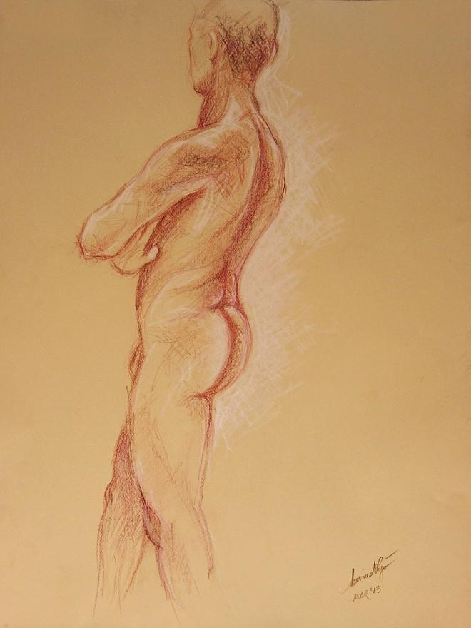 Studio di nudo maschile. Pastello (2013)