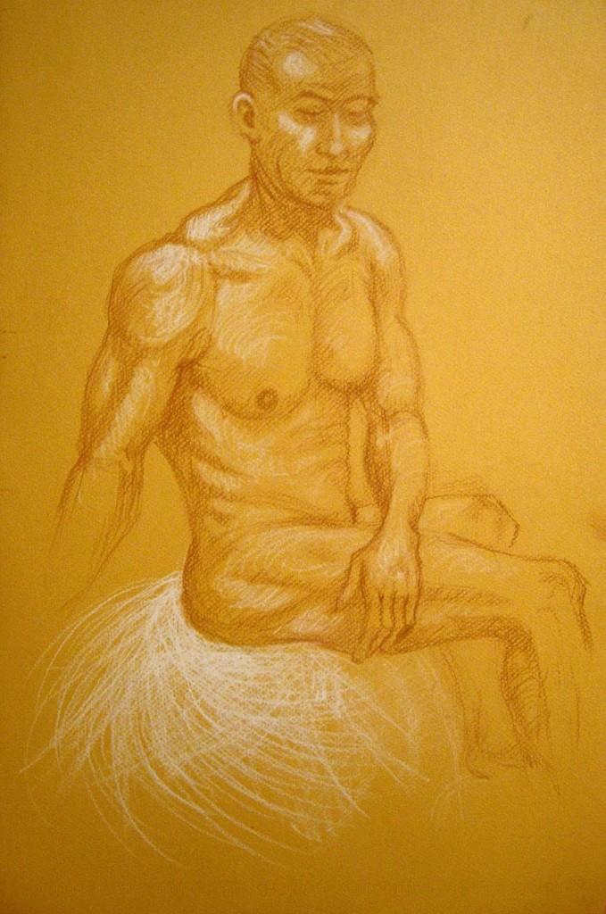 studio nudo maschile. Disegno (2011)
