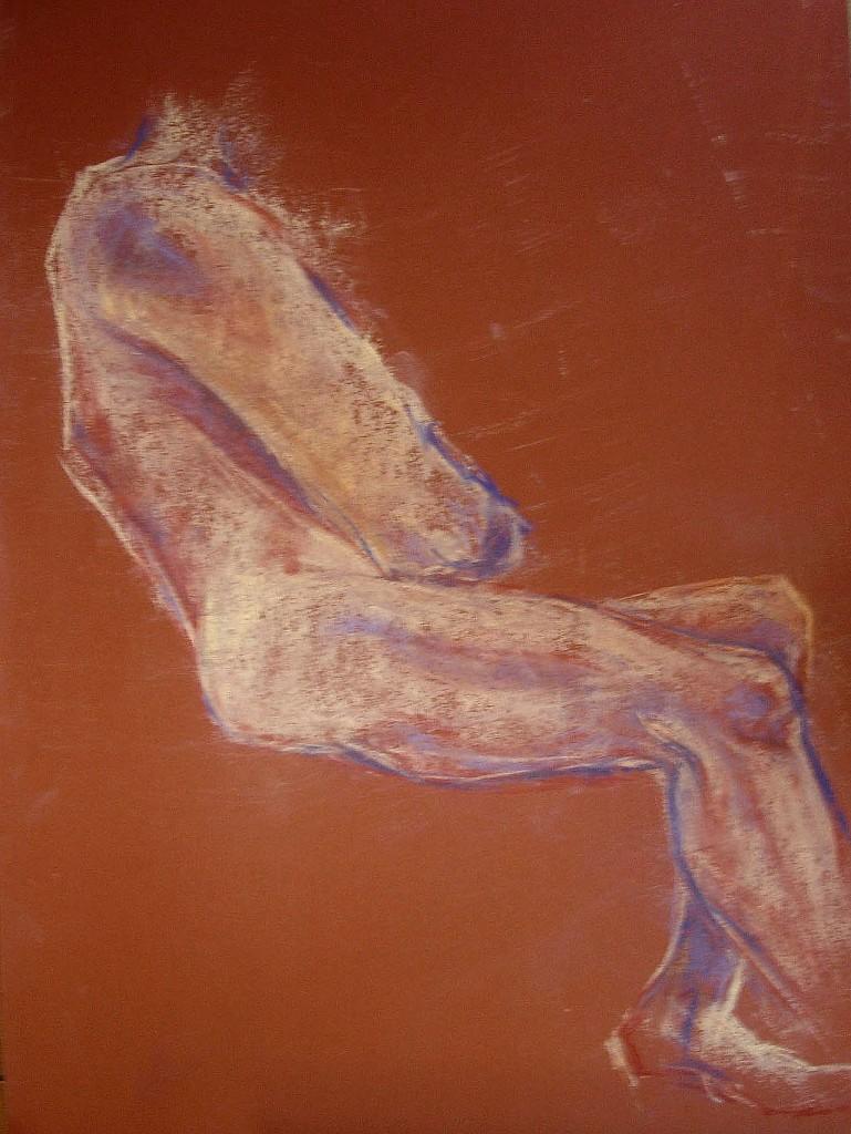 Studio posa seduta. Pastello (2011)