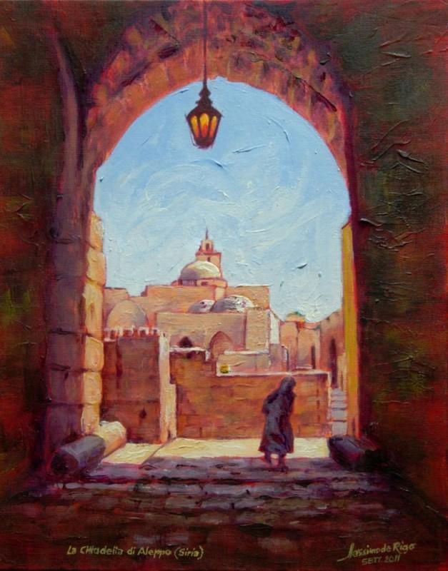 La cittadella di Aleppo (Siria) un anno prima della tragica guerra civile (2011)