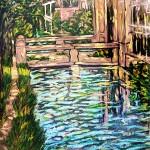 Riflessi sul canale. Olio su tavola di legno (1979)