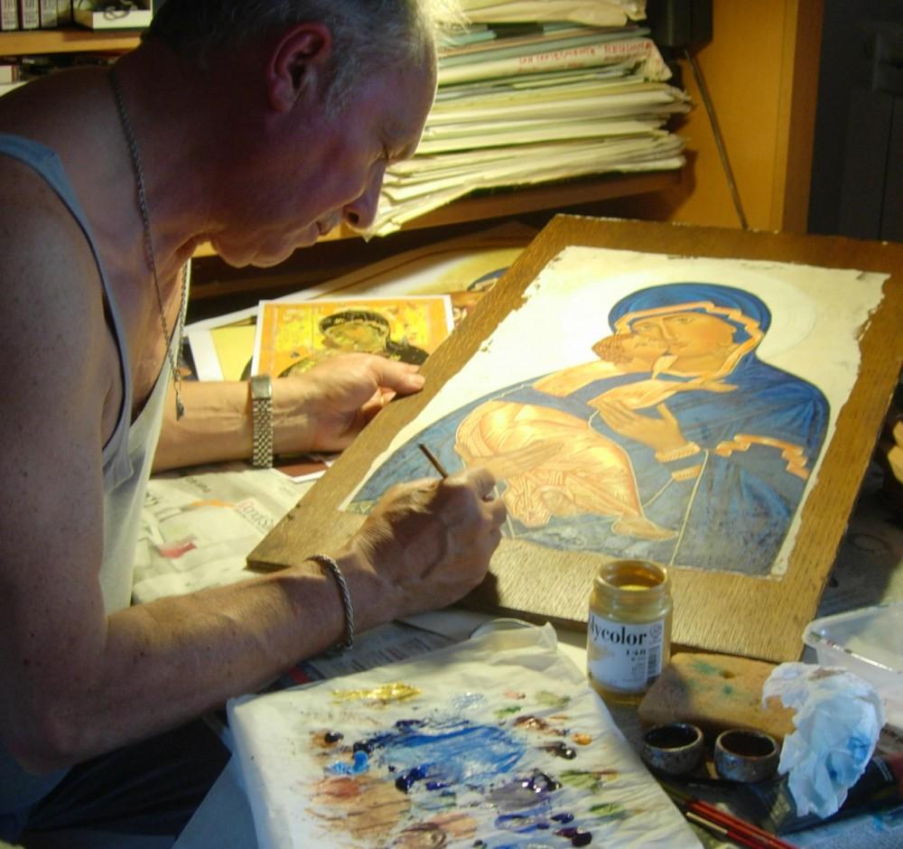 Durante la rielaborazione dell'icona di Vladimir