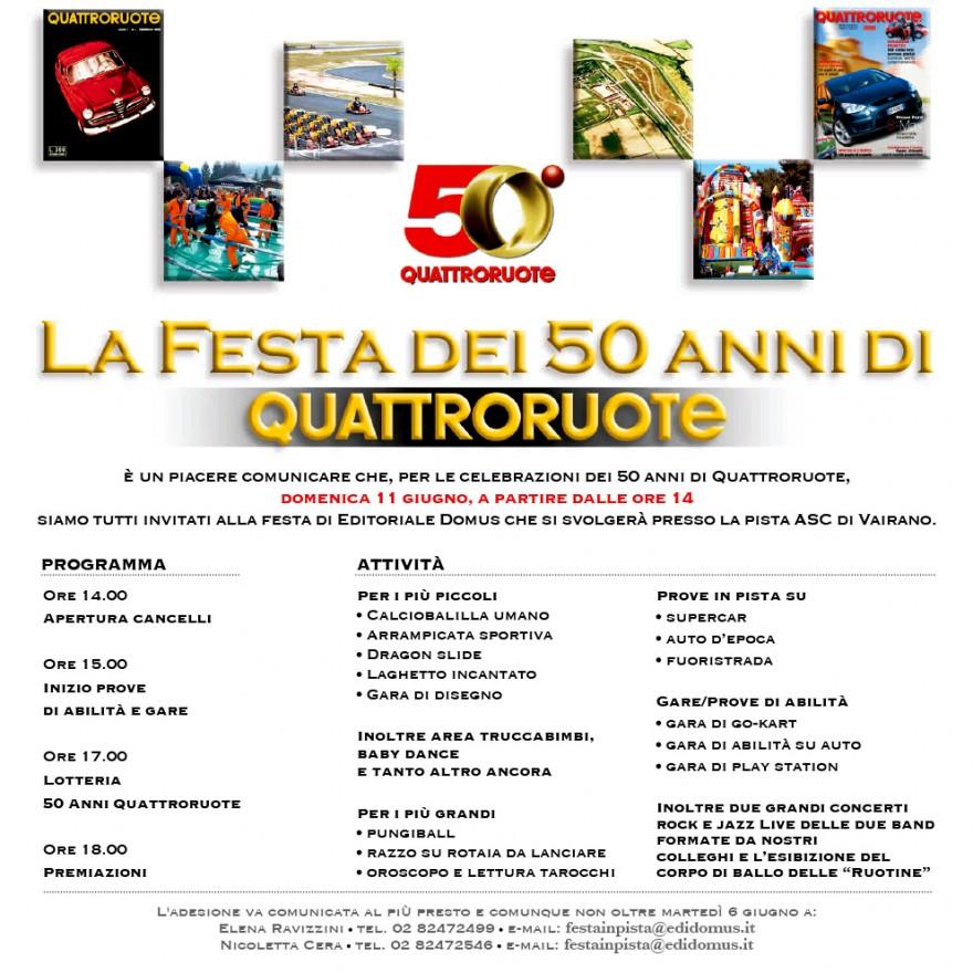 Invito Jubileo Quattroruote - (C) Editoriale Domus SpA