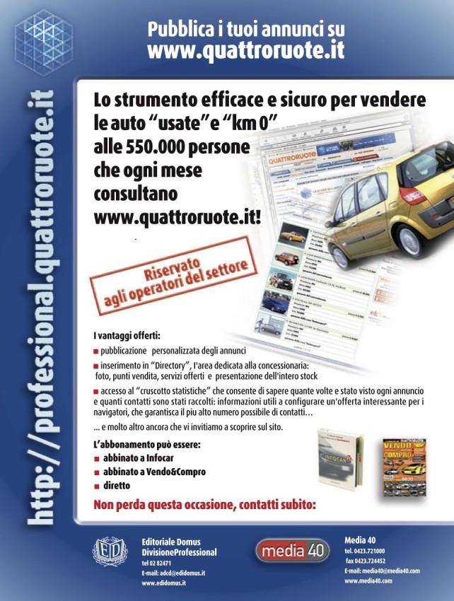 Campagna stampa Quattroruote Professional - (C) Editoriale Domus SpA
