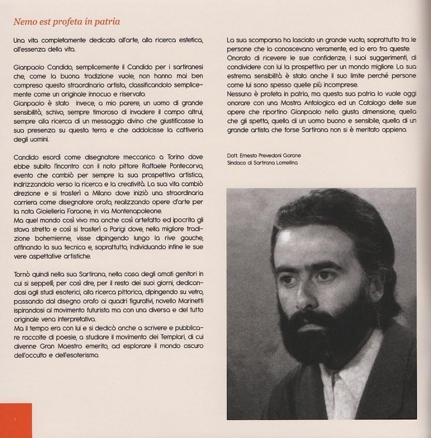 Gian Paolo Candido, grande amico e Magister di Sartirana