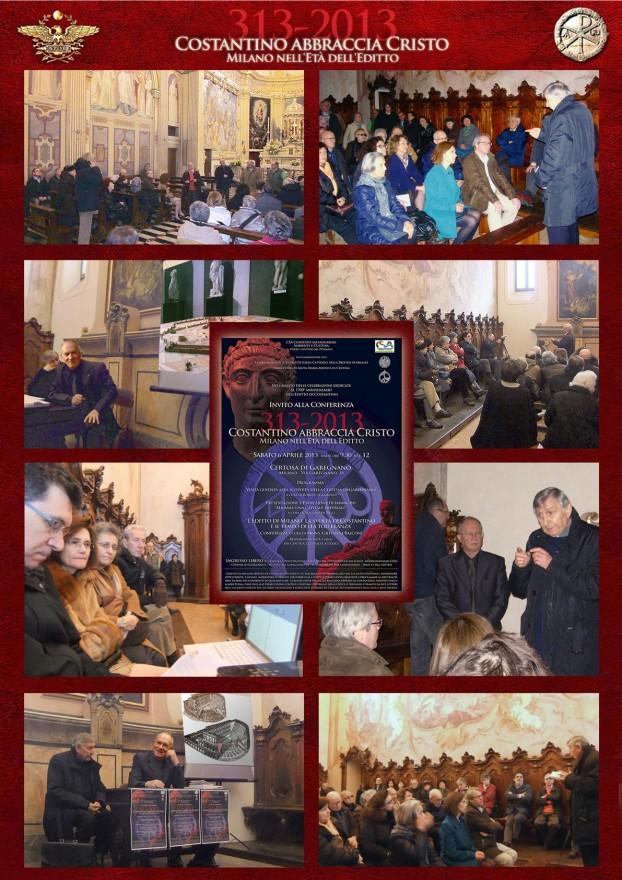 """Conferenza """"313-2013 Costantino abbraccia Cristo. Milano nell'Età dell'Editto"""""""