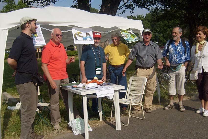 Gazebo CSA per la difesa degli habitat naturalistici del Parco delle Cave
