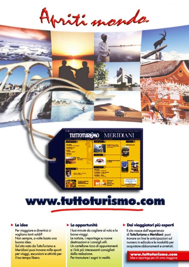 Campagna stampa sito web Tuttoturismo - (C) Editoriale Domus SpA