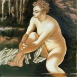 La mia Susanna (2012). Affresco copia di Jacopo Robusti Tintoretto (1518-94)