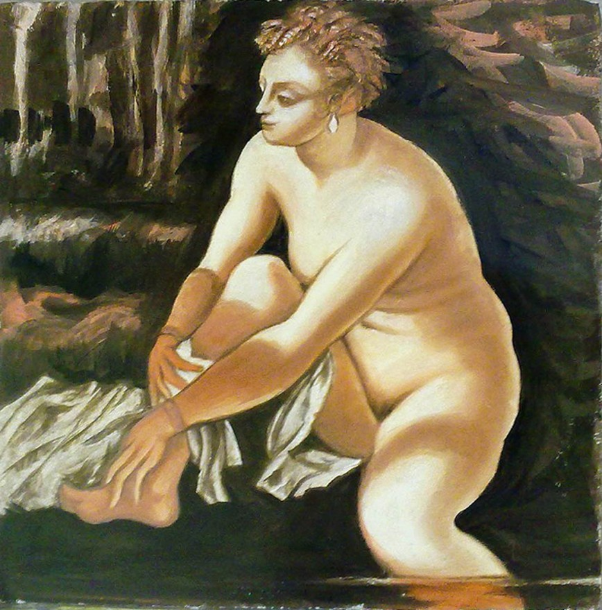 La mia Susanna (2012). Affresco copia di Jacopo Robusti Tintoretto (1518-94)