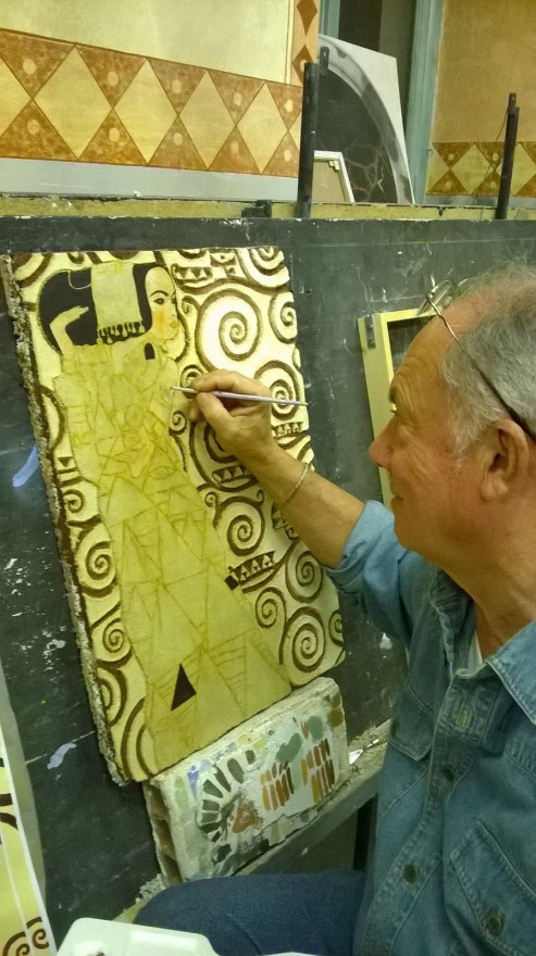 Fase definitivo graffito Klimt (2015)