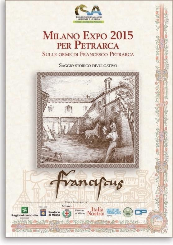 copertina saggio Petrarca Milano Expo 2015 per Petrarca