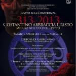 Locandina conferenza Editto di Costantino