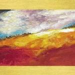 Ferragosto, tecnica mista pittura materica (2017)