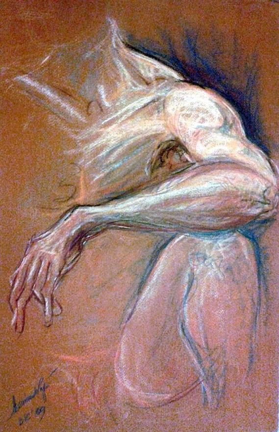 Studio avambraccio. Pastello (2010)
