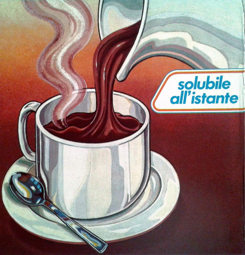 Illustrazione per packaging Cioccolata solubile Knorr. Tecnica mista (1996)