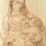 Copia della Madonna del Latte di Andrea Pisano. Pastelli (2016)