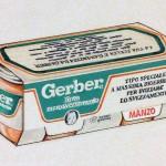 Omogeneizzato Gerber, disegno per studio packaging. Pennarelli (1988)