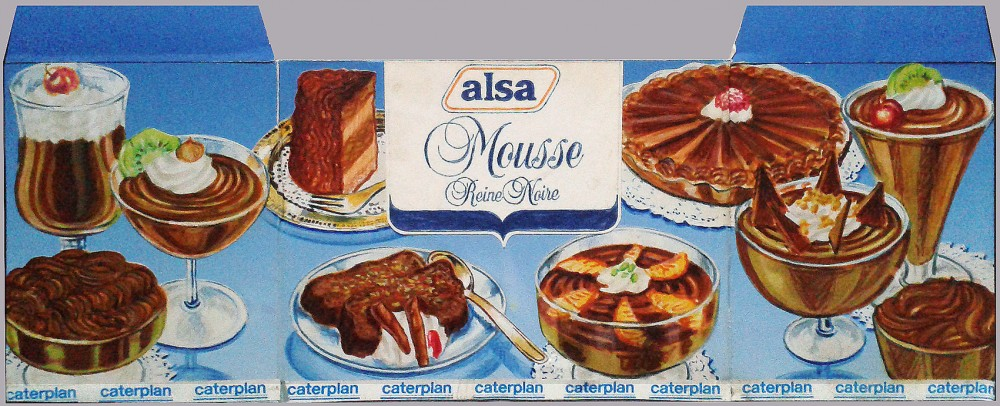 Layout packaging Mousse Knorr (1986)