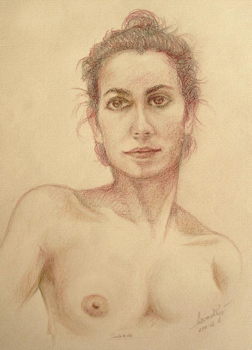 Sara, modella in armonia. Pastelli (2014)