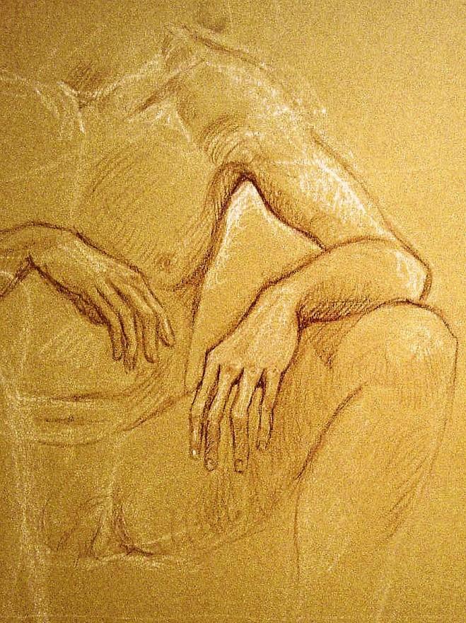 Studio di mani. Pastello (2009)